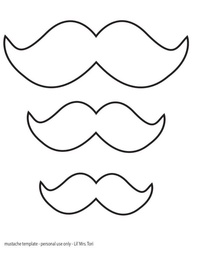 Moule à moustache pour la fête des pères